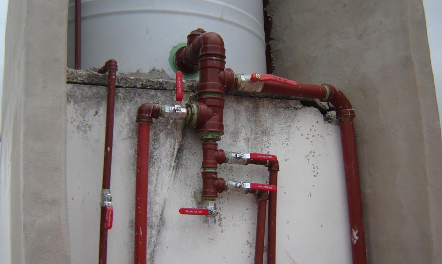 Agua saliente sanitaria